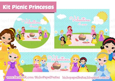 kit picnic princesas