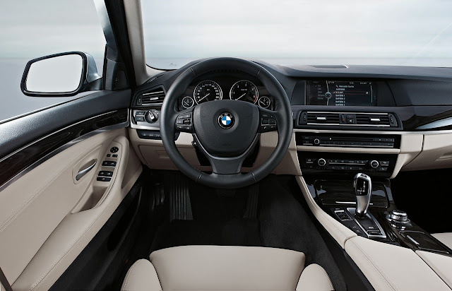 Interior shot of 2011 BMW 528i