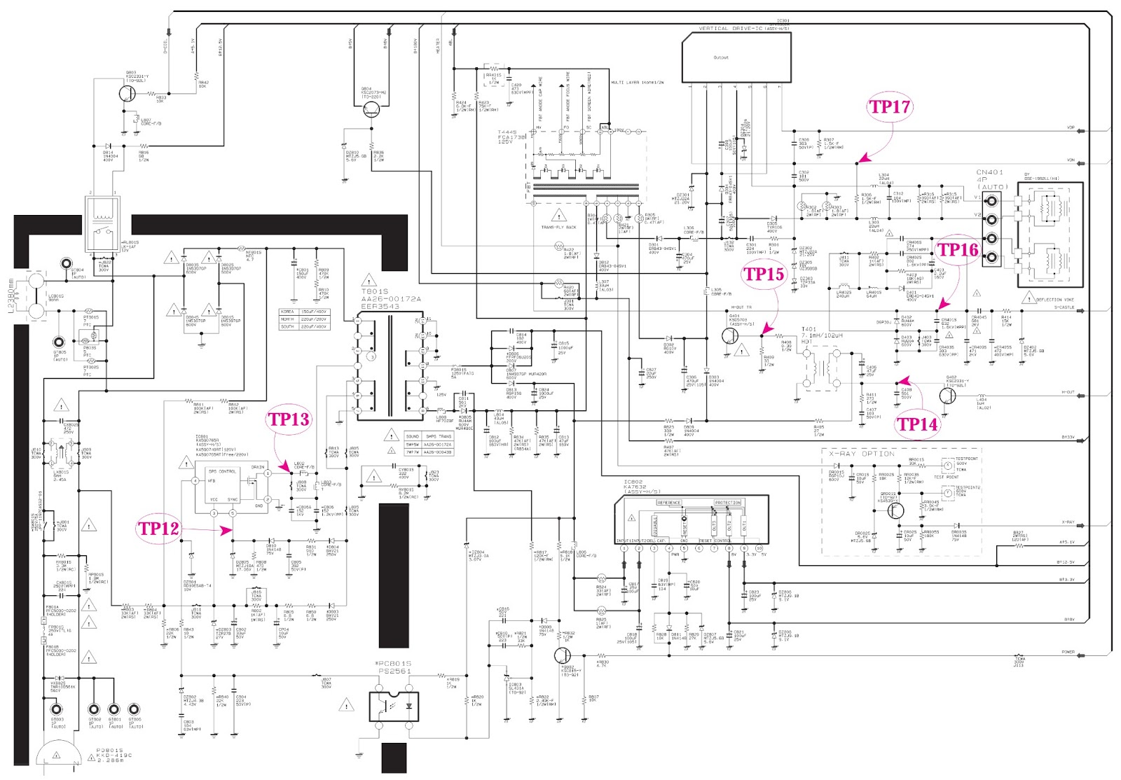 POWER.bmp samsung txp2011 main power [smps] & micom schematic (circuit