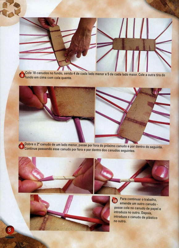 Cara membuat keranjang dari limbah kertas