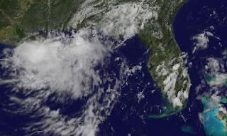 Pot. Tropischer Sturm NADINE - Achtung auf Florida, Nadine, Florida, Golf von Mexiko, Satellitenbild Satellitenbilder, Vorhersage Forecast Prognose, Atlantische Hurrikansaison, Hurrikansaison 2012, September, 2012,
