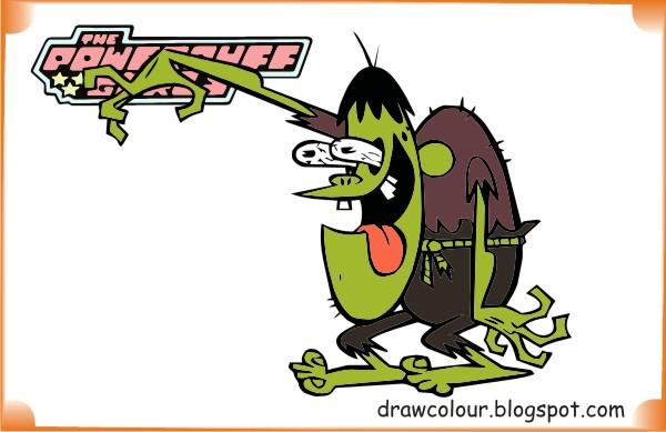 the_powerpuff_girls-ganggreen_gang-coloring-pages