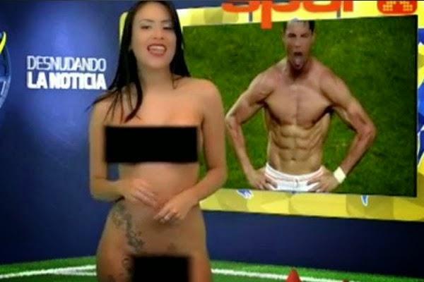Video Penyampai TV Berbogel Demi Ronaldo