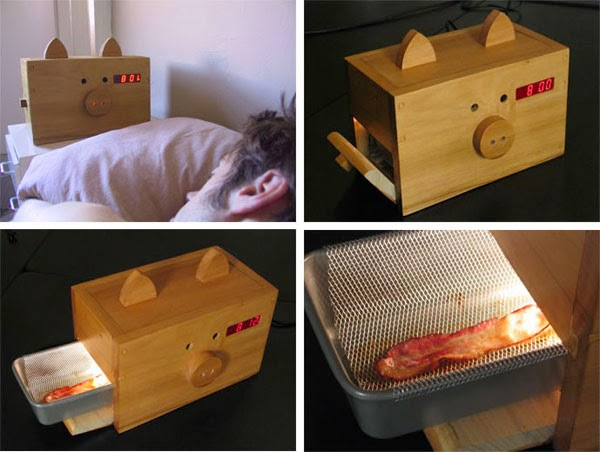 here is the bacon alarm clock for the best awakening