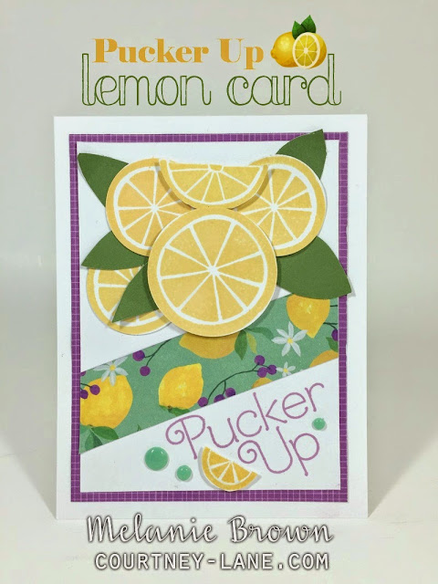 Pucker up Lemon Card