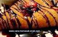 resep praktis dan mudah membuat (memasak) makanan khas perancis kue crepes crispy spesial enak, legit, nikmat