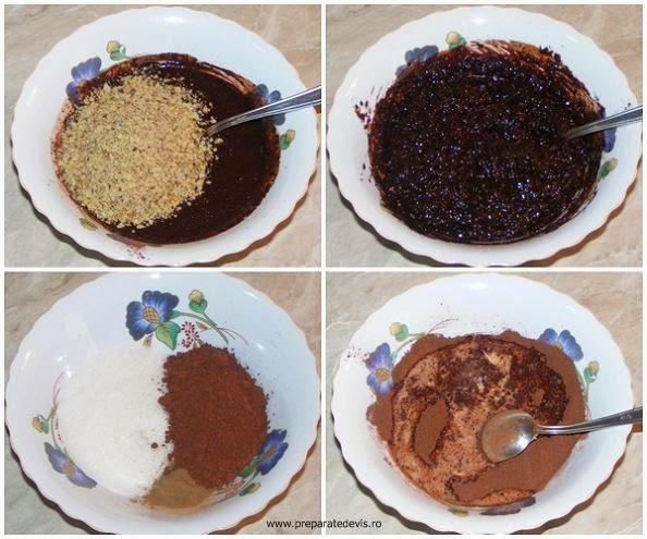 umplutura pentru cozonac cu nuca si cacao, cum se face cozonacul umplut cu multa nuca si cacao, retete culinare, dulciuri,