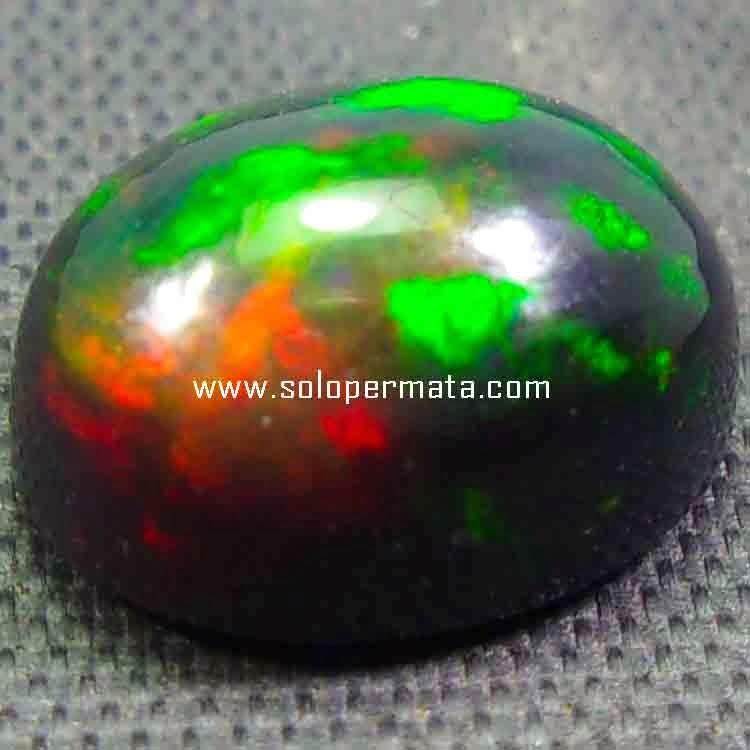 Batu Permata Black Opal Fire Kalimaya - 26B11