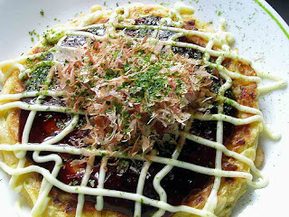 Japanese menu Okonomiyaki
