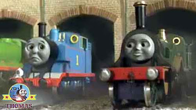 Thomas the tank engine disappointed Fat Controller gave a job to Emerald Emily the beautiful engine