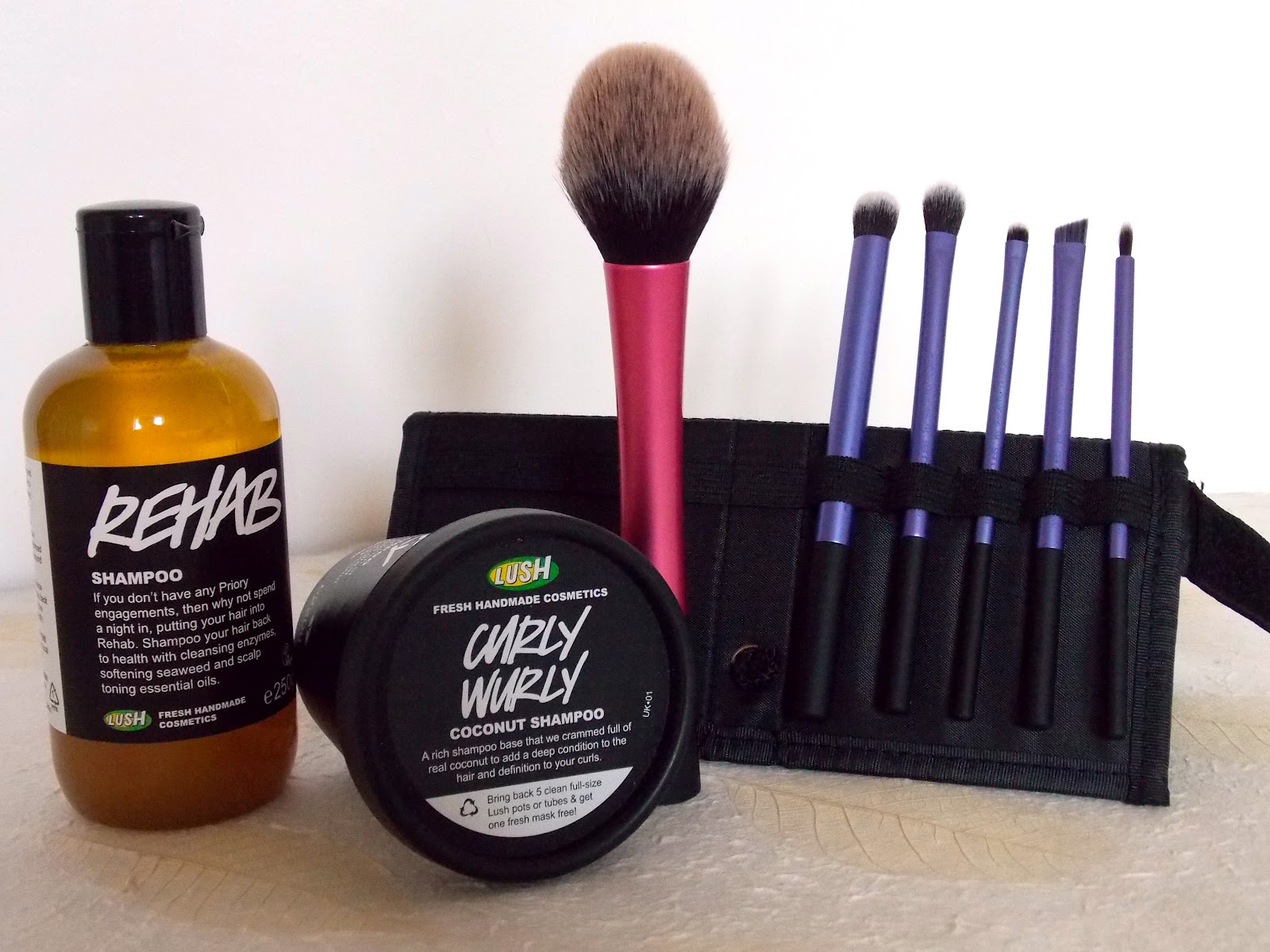 Lush Shampoo and Real Techniques Brushes