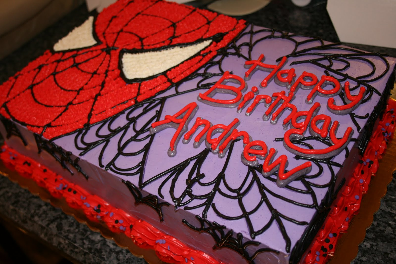 Desserts by danny spiderman birthday cake for Spiderman template for cake