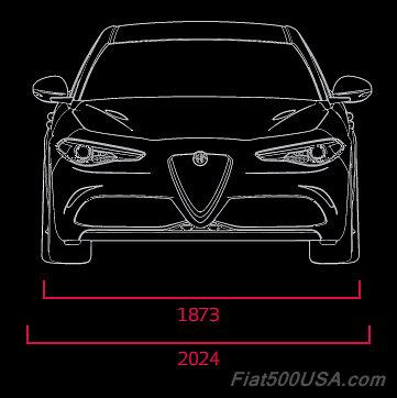 Alfa Giulia QV Dimensions