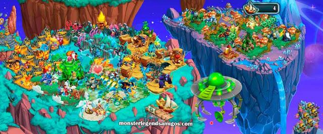 imagen de la isla alien de monster legends