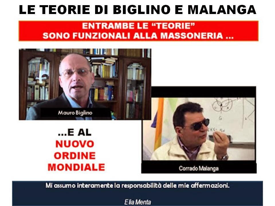 """LE """"TEORIE"""" DI BIGLINO E MALANGA"""