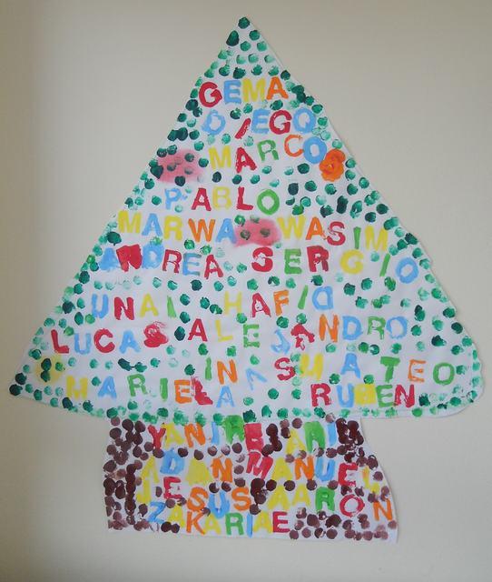 Infantil con gema colegio santa ana caspe nuestro rbol - Arbol navidad infantil ...