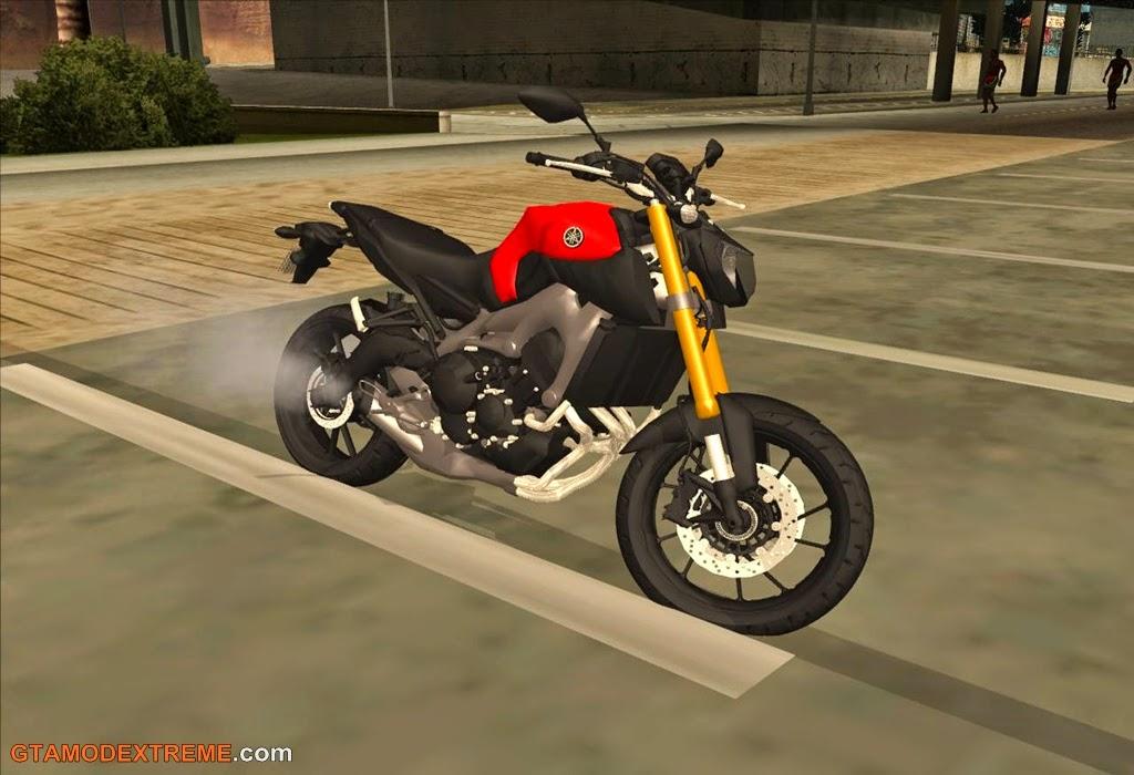 Baixar moto Yamaha MT-09 Para GTA San Andreas