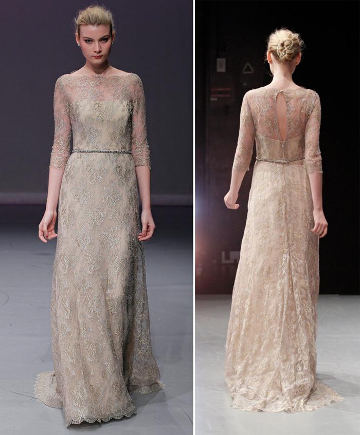 Rivini simonetta lace embroidered wedding gown for Embroidered lace wedding dress