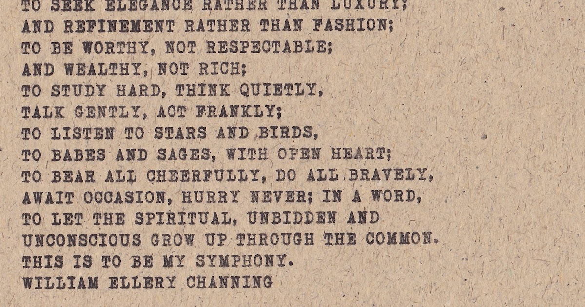 The Lewis List Happy Friday William Ellery Channing 39 S Symphony