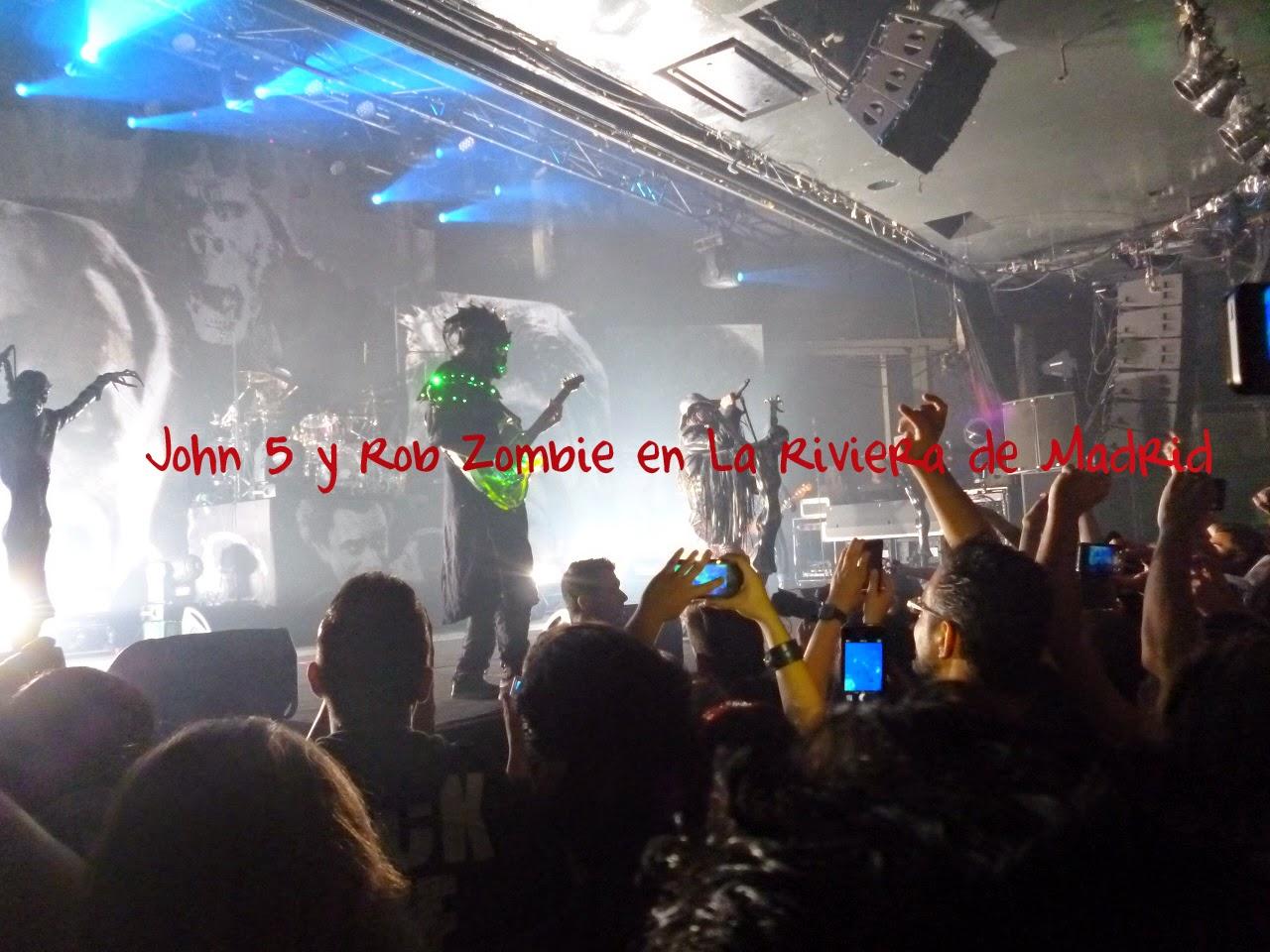 John 5 y Rob Zombie, Madrid