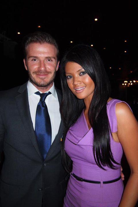 Foto Farah Queen dan David Beckham