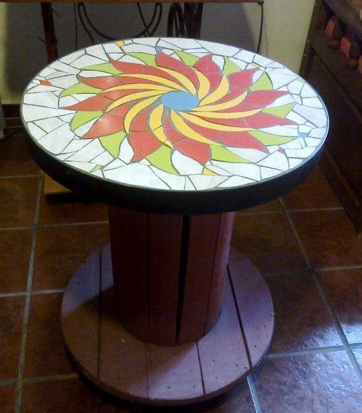 Reciclar reutilizar y reducir mesas de bobinas de cable - Como pintar mosaicos ...