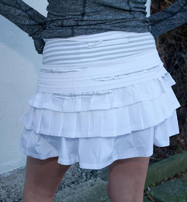 lululemon back on track running skirt white