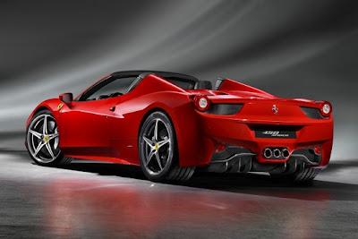 2012 Ferrari 458 Italia Spyder.
