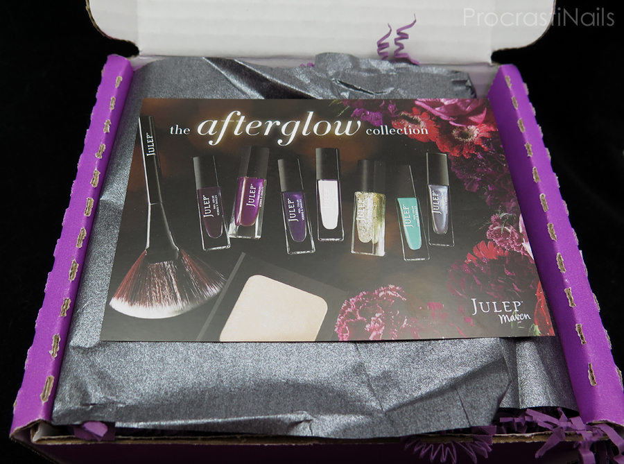 Unboxing of my February 2015 Julep Maven Box for The Afterglow Collection