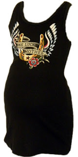 Cool Punk Rock Rockabilly Trendy Tattoo One Lucky Mother Tank Top by Baby Rebellion