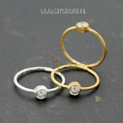 anillo carlalluna en oro y plata modelo luna