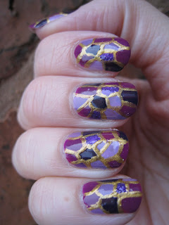 Mosaic-nail-art-purple