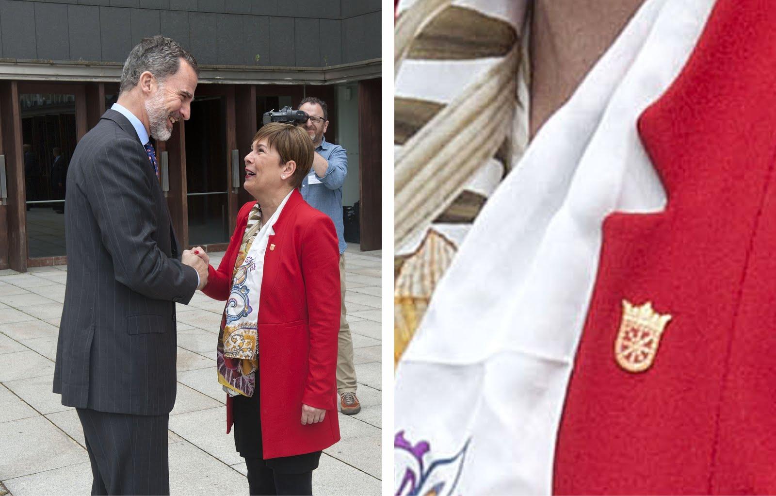La presidenta Barkos recibe al Rey Felipe VI