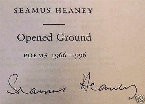 open ground seamus heaney Seamus heaney, world renowned irish poet and nobel prize laureate, has written hundreds of poems although he has written so many poems, they all tend to revolve around several common themes.