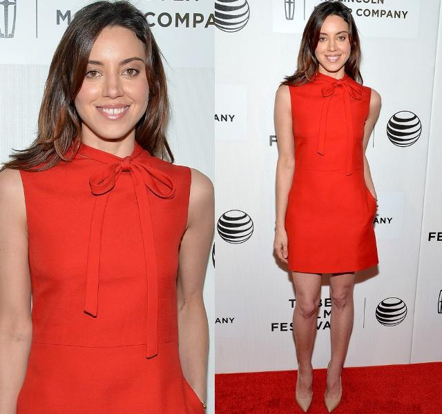 Aubrey Plaza Hit The Red Carpet Yesterday Evening At The &Quot;about Alex