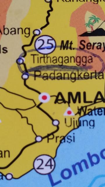 Folleto turístico a modo de mapa en Bali