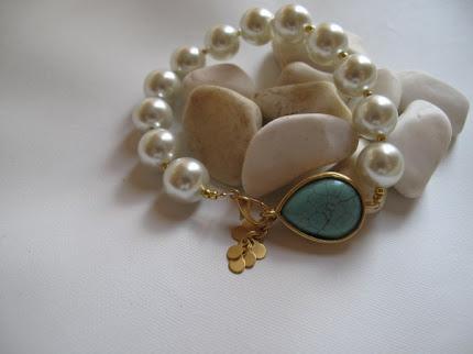 Wedding bracelet,pearl,turquoise..