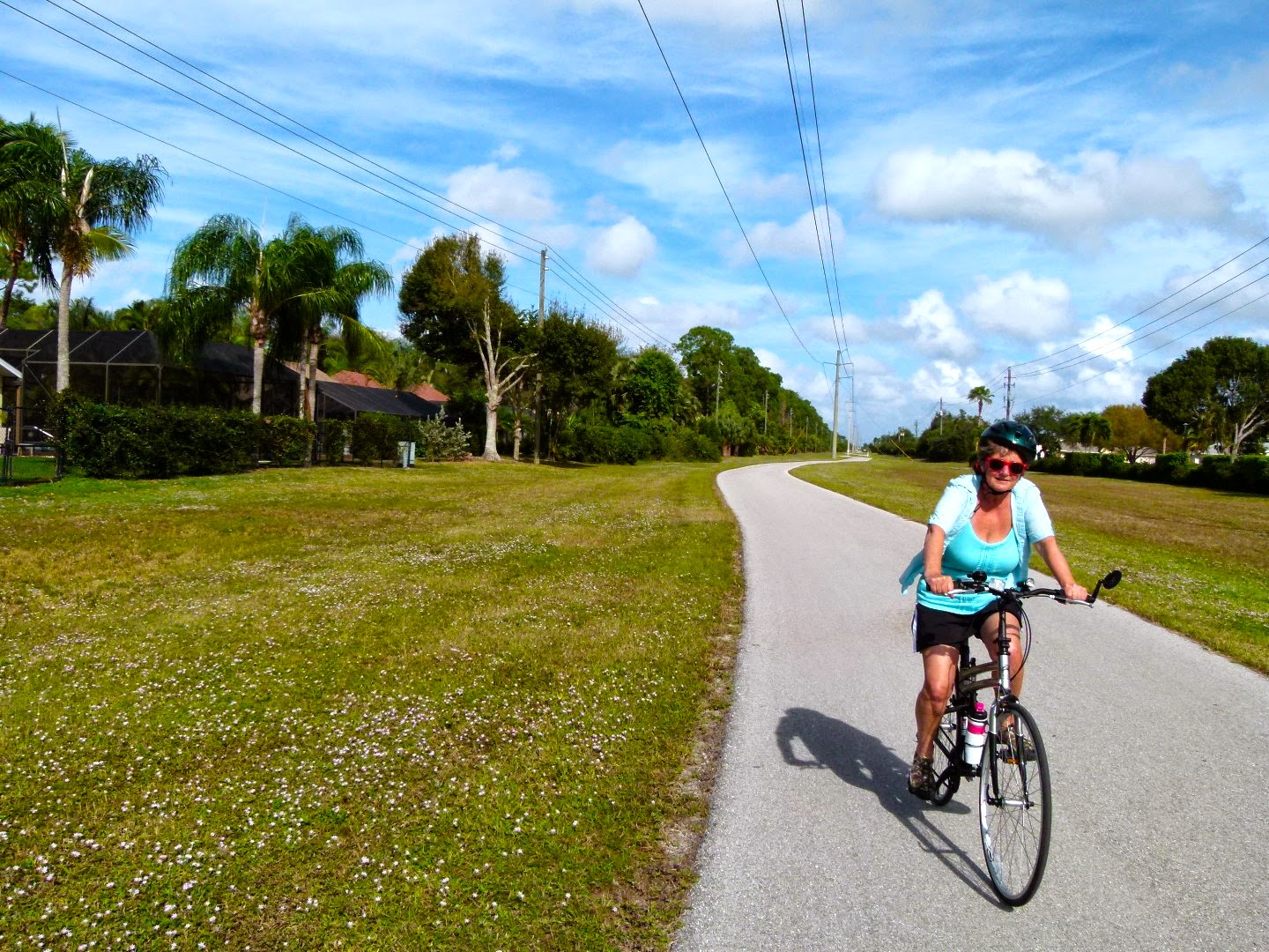 Cycling along the Rich King Memorial Greenway, Naples, Florida