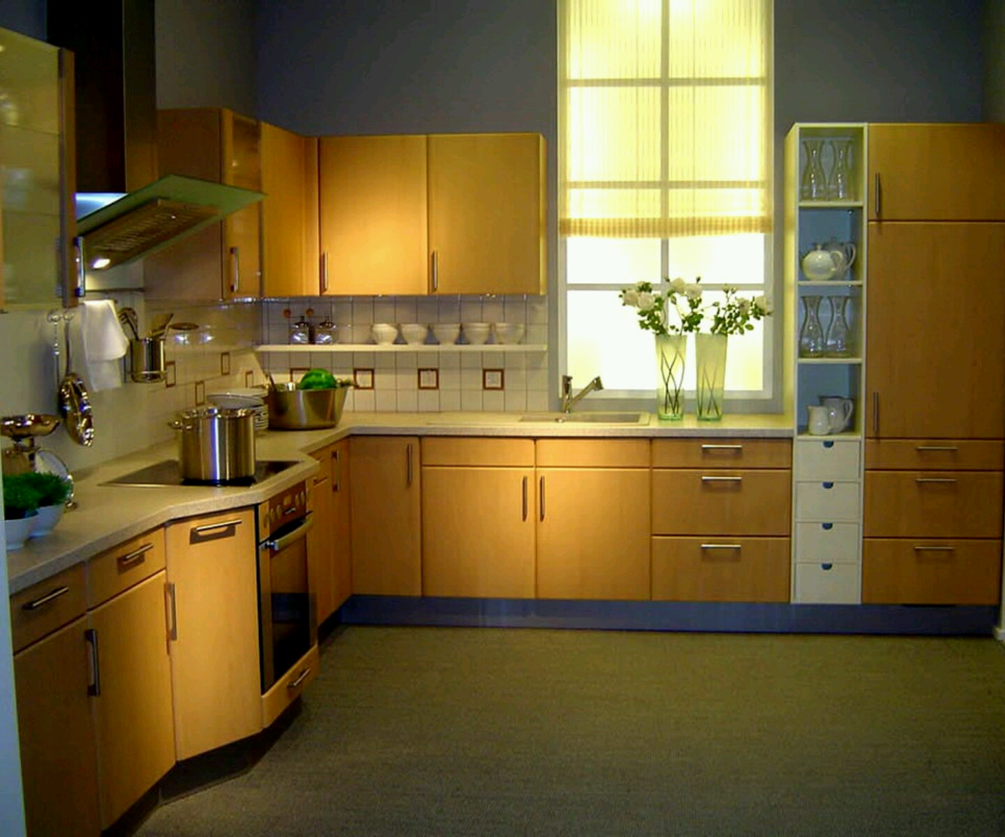 Modern Small Kitchen Design: New Home Designs Latest.: Modern Kitchen Cabinets Designs