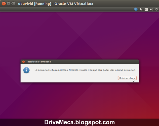 DriveMeca instalando Linux Ubuntu Desktop Vivit Vervet 15.04 paso a paso