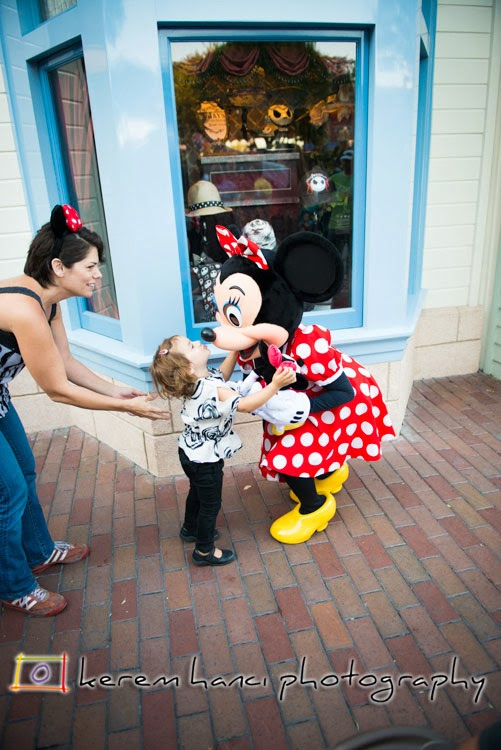 Minnie Mouse hugging Vivienne