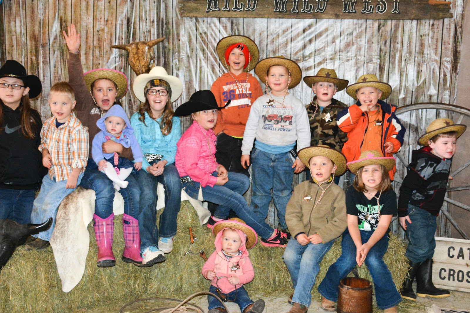 Before We Played Games Got All Of The Kids Together For A Picture Willing Ones Anyway Dont They Look Great In Their Hats And Badges