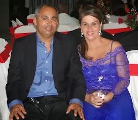 Gilberto Azevedo Diretor da Rádio Luz Fm ao lado de sua esposa Sandra Suely.
