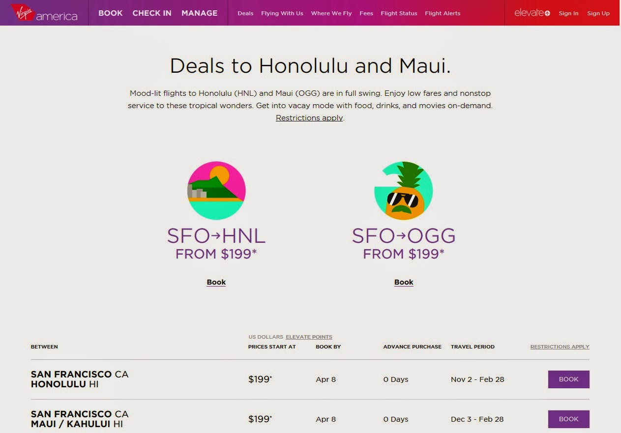 airline tickets san francisco hawaii