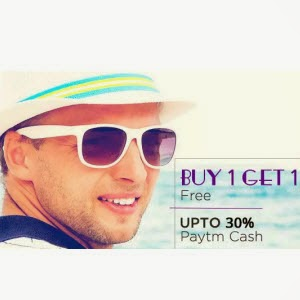 Sunglasses Buy 1 Get 1 Free + extra 30% Cashback at Paytm: Buy To Earn
