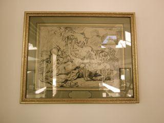 Ecole italienne du XVIIème Siècle -Loth et ses filles-Dessin à la plume