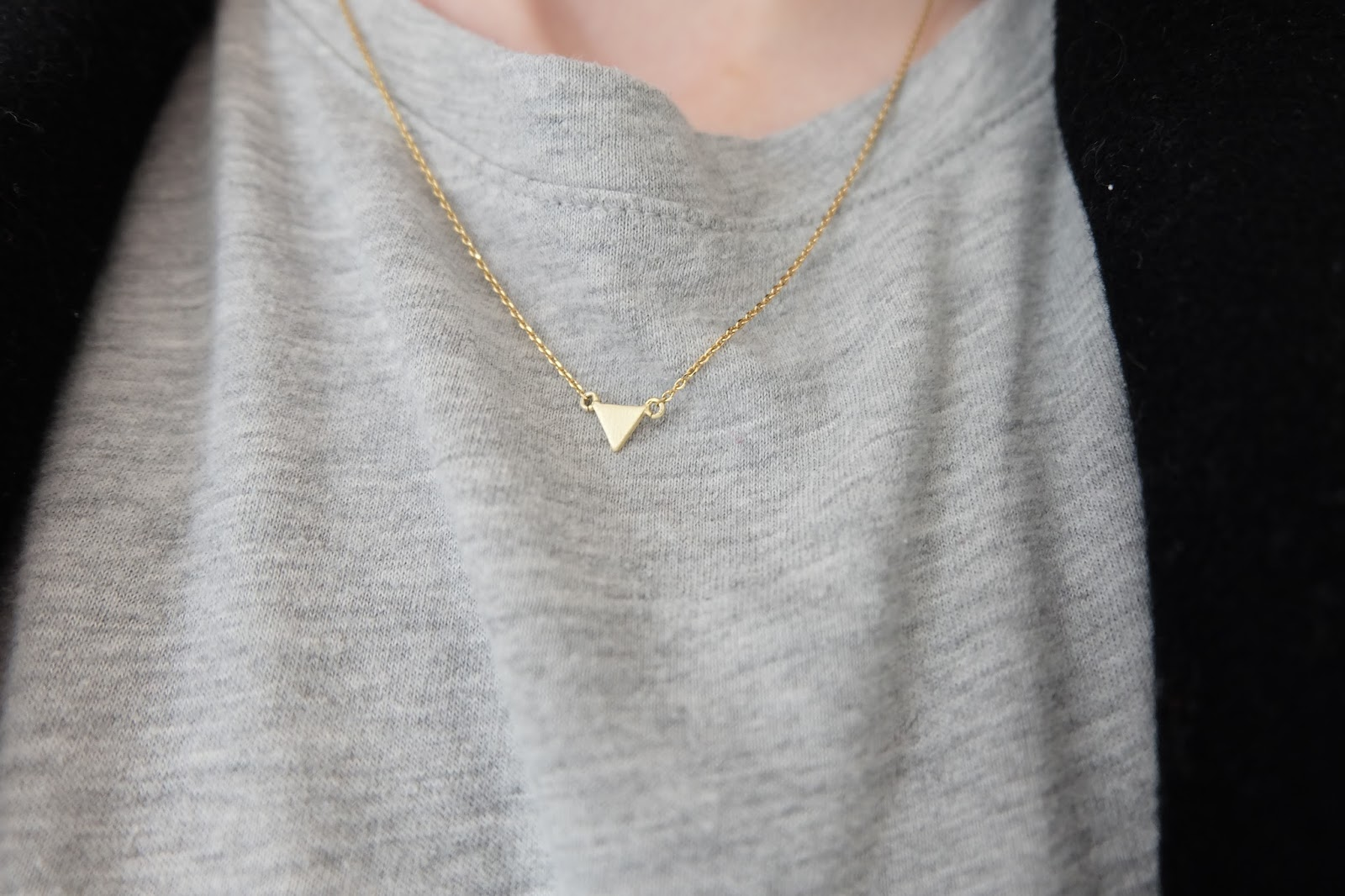 Orelia Gold Triangle necklace