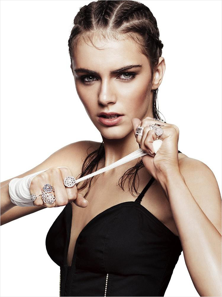 Anja Cihoric by Terry Gates for Glamour France, December 2012