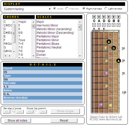 Nathan\'s Soliloquy: Guitar Chord Finder