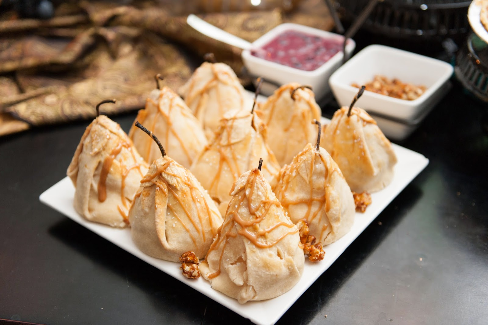pear dumplings with all the toppings
